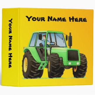 Green Tractor 3 Ring Binders