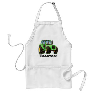 Green Tractor Adult Apron