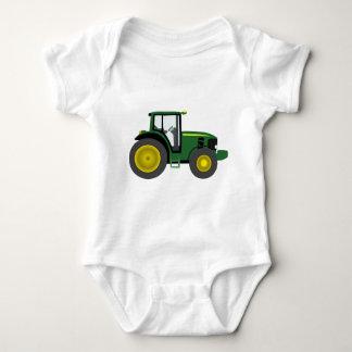 Green Tractor Baby Bodysuit