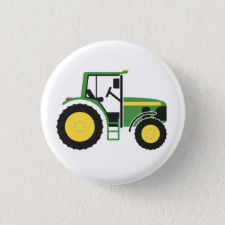 Green Tractor Badge Button