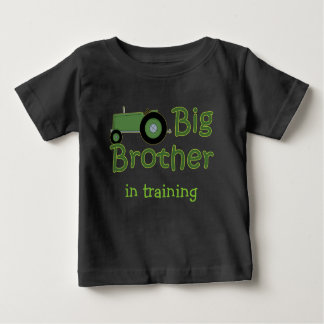 Green Tractor Big Brother In Training Baby T-Shirt