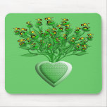Green Tractor Bouquet Mousepad