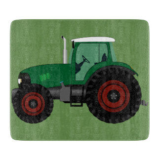Green Tractor Cutting Board