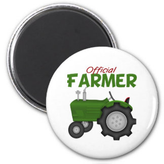 Green Tractor Farmer Magnet