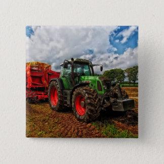 Green Tractor & Grain mixer Button