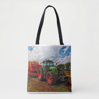 Green Tractor & Grain mixer tote