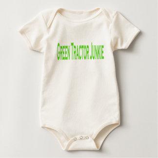 Green Tractor Junkie Baby Bodysuit