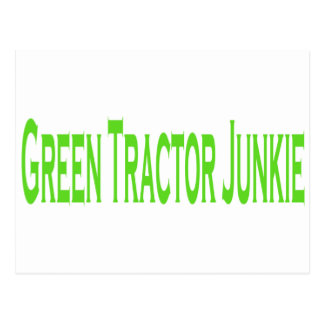 Green Tractor Junkie Postcard
