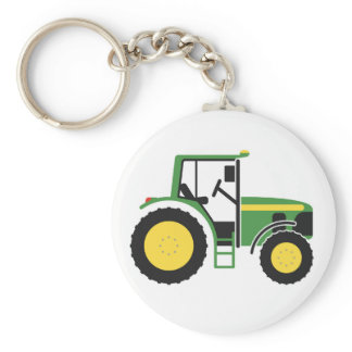 Green Tractor Key Ring