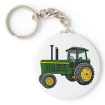 Green Tractor Keychain