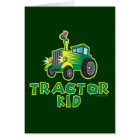 Green Tractor Kid Card