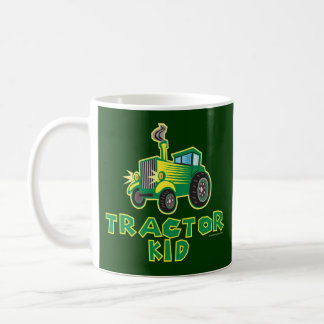 Green Tractor Kid Coffee Mug