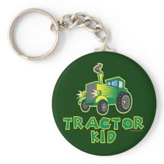 Green Tractor Kid Keychain