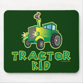 Green Tractor Kid Mouse Pad