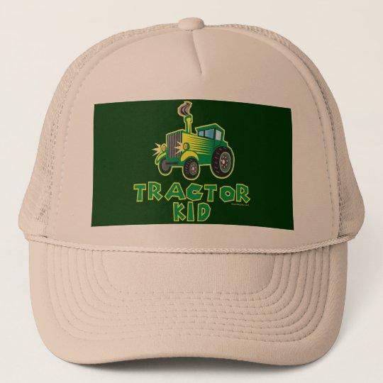 Green Tractor Kid Trucker Hat