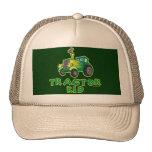 Green Tractor Kid Trucker Hats