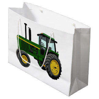Green Tractor Large Gift Bag