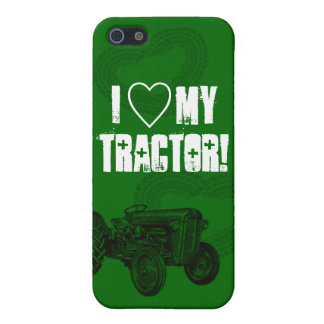 Green Tractor Love iPhone Case