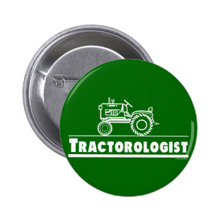 Green Tractor Ologist Pin