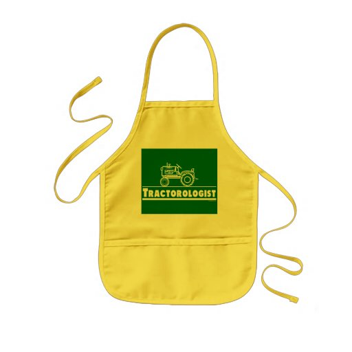 Green Tractor Ologist Kids' Apron