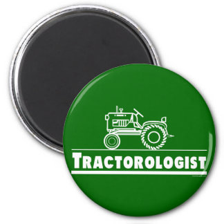Green Tractor Ologist Magnet