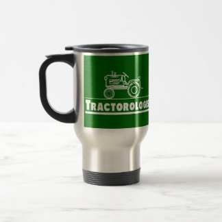 Green Tractor Ologist Stainless Steel Travel Mug