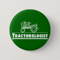 Green Tractor Ologist Pinback Button