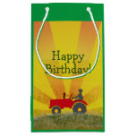 Green Tractor Party Bag Small Gift Bag