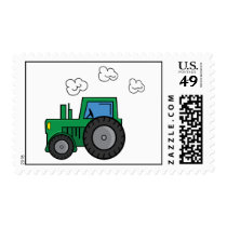 Green Tractor Postage