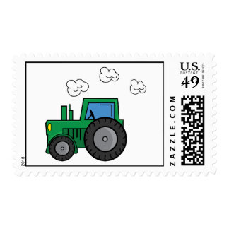 Green Tractor Stamp