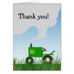 Green Tractor Thank You Note Greeting Cards