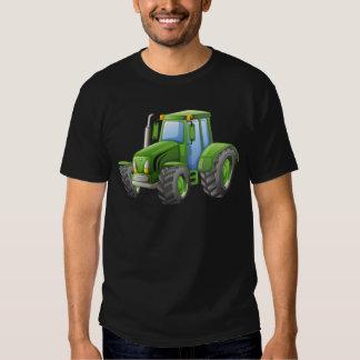 Green tractor with big wheels tee shirt