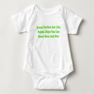 Green Tractors Are Like Potato Chips You Can Never Baby Bodysuit