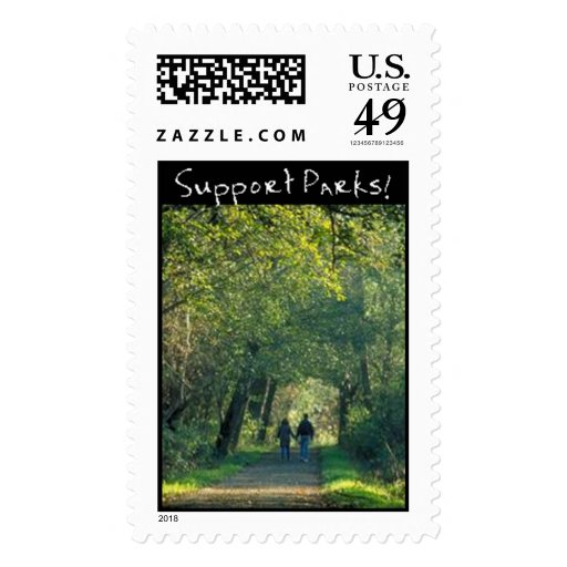 Green Trail Postage Stamp