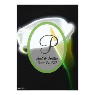Green Transp w White Oval Invites