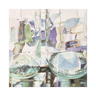 Green Transparency Canvas Print
