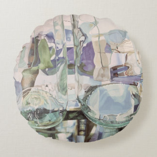 Green Transparency Round Pillow
