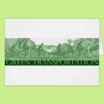 Green Transportation : Bicycles Card