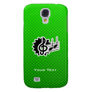 Green Treble Clef Galaxy S4 Case