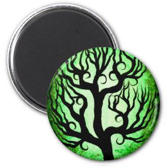 Green tree 2 inch round magnet