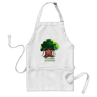 Green Tree Adult Apron
