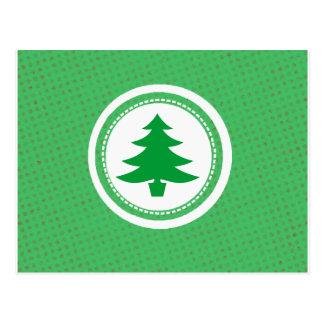 Green Tree and Polkadots Postcard