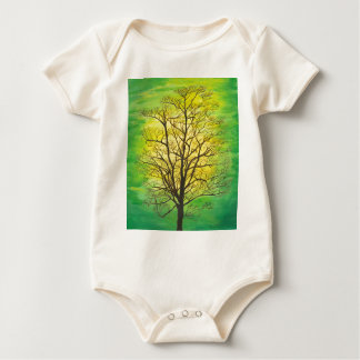 Green Tree Baby Bodysuit