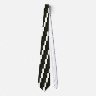 green tree bark neck tie