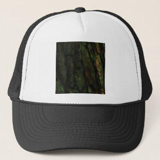 green tree bark trucker hat
