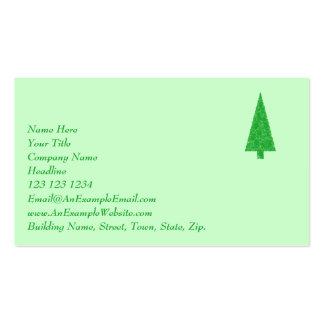 Green Tree Christmas Fir Evergreen Tree Business Card Template