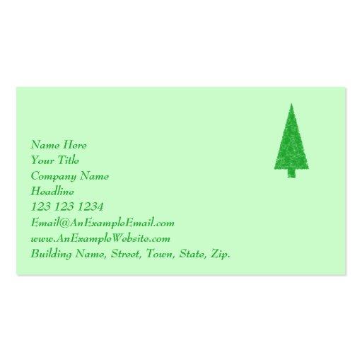 Green tree christmas fir evergreen tree business card for Christmas business card template