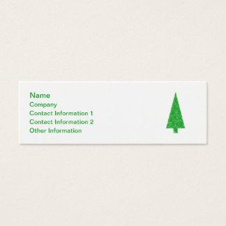 Green Tree. Christmas, Fir, Evergreen Tree. Mini Business Card