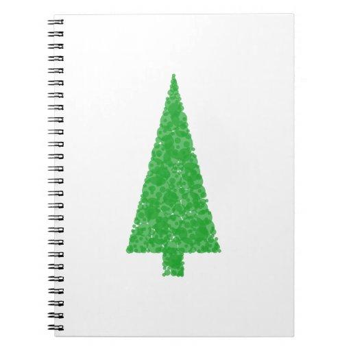 Green Tree. Christmas, Fir, Evergreen Tree. Note Book
