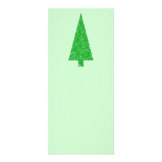 Green Tree Christmas Fir Evergreen Tree Custom Rack Card